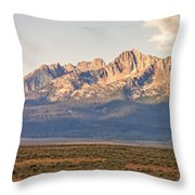 The Sawtooths' Throw Pillow by Robert Bales