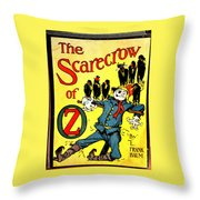 The Scarecrow Of Oz Throw Pillow