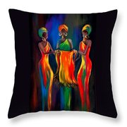 The Scarf Throw Pillow