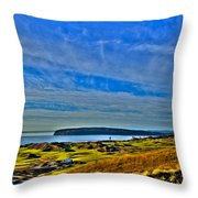 The Scenic Chambers Bay Golf Course II - Location Of The 2015 U.s. Open Tournament Throw Pillow