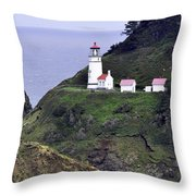 The Scenic Lighthouse Throw Pillow