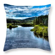 The Scenic Moose River Throw Pillow