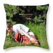 The Scent Of The Dandelion Throw Pillow