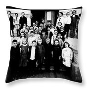 The School Photo Throw Pillow
