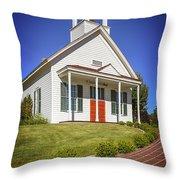 The Schoolhouse Throw Pillow