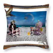 The Scientist's Vacation Throw Pillow