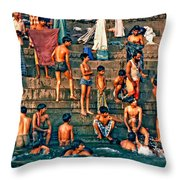 The Scolding Throw Pillow