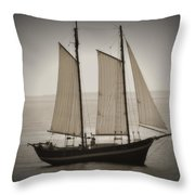 The Scooner Throw Pillow