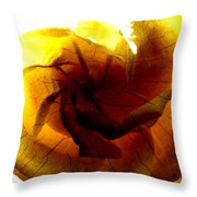 The Scorched Rose Throw Pillow