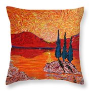 The Scot And The Mermaid Throw Pillow
