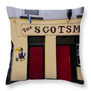 The Scottsmans Bar - Donegal Ireland Throw Pillow