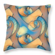 The Sea And The Sand Abstract Throw Pillow