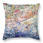 Fragmented Sea Throw Pillow