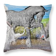 The Sea Horse Throw Pillow