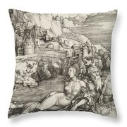 The Sea Monster Throw Pillow