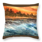 The Sea Of Blue Throw Pillow