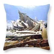 The Sea Of Ice Polar Sea Throw Pillow