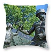 The Seabees At Arlington Throw Pillow