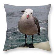 The Seagull 2 Throw Pillow