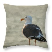 The Seagull Throw Pillow