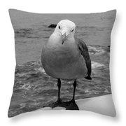 The Seagull Throw Pillow