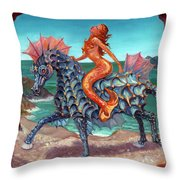 The Seamaid's Fantasy Throw Pillow