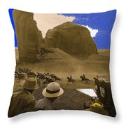 The Searchers   Cast And Crew Monument Valley Arizona 1956 Throw Pillow