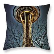 The Seattle Space Needle Iv Throw Pillow
