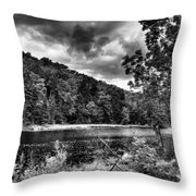 The Secluded Bald Mountain Pond Throw Pillow