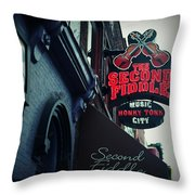 The Second Fiddle Throw Pillow
