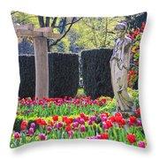 The Secret Garden Of The Goddess Throw Pillow