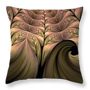 The Secret World Of Plants Abstract Throw Pillow