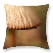 The Secret World Of Shroooms Throw Pillow