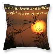 The Secrets Of Your Soul Throw Pillow