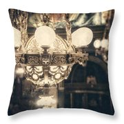 The Senate Chandeliers  Throw Pillow by Lisa Russo