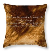 The Serenity Prayer 1 Throw Pillow