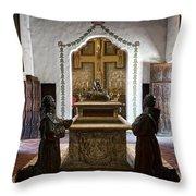 The Serra Cenotaph In Carmel Mission Throw Pillow