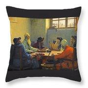 The Seven Rabbis In Jerusalem Throw Pillow