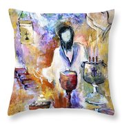 The Seven Sacrements Throw Pillow