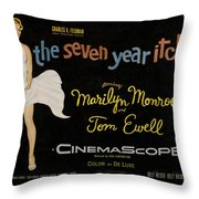 The Seven Year Itch Throw Pillow by Georgia Fowler