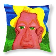 The Severely Svelte Sven Severin The 7th Throw Pillow by Del Gaizo