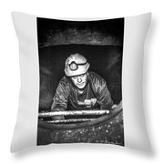 The Sewer Guy Throw Pillow