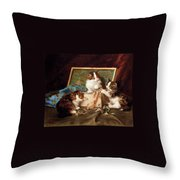 The Sewing Box Throw Pillow