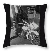 The Shadow Of The Eagle Homage 1932 Jack Wilson Stuntman Globe Arizona 1969 Throw Pillow