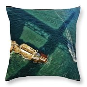 The Shadow Of The Golden Gate Throw Pillow