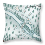 The Shadowed Keep Snowbound Village Throw Pillow
