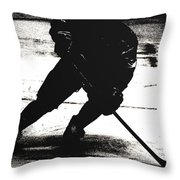 The Shadows Of Hockey Throw Pillow