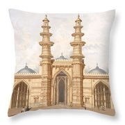 The Shaking Minarets Of Ahmedabad Throw Pillow