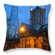 The Shard And Southwark Cathedral Throw Pillow