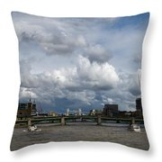 The Shard And The Thames At Southwark Throw Pillow